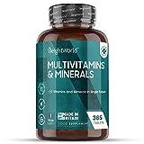 Multivitaminas y Minerales 365 Comprimidos Vegetales - 27 Vitaminas y Minerales...