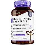 Multivitaminas y Minerales - 365 Comprimidos Veganos - Complejo Vitaminico con 26 Activos...