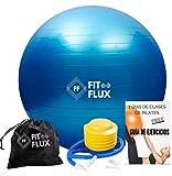 FITFLUX Pelota de Pilates, Yoga, Fitness, Ejercicio, Embarazo, Equilibrio. Fitball para...