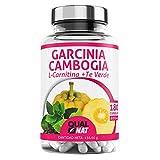 Garcinia Cambogia + L-Carnitina + Té Verde   Potente Quemagrasas   Reductor del apetito...