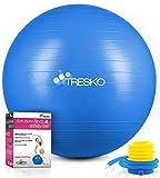 TRESKO® Pelota de Gimnasia Anti-Reventones | Bola de Yoga Pilates y Ejercicio | Balón...