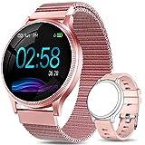 AIMIUVEI Smartwatch Mujer, Reloj Inteligente Mujer con Pulsómetro, Impermeable IP67,...
