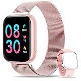 WWDOLL Smartwatch, Reloj Inteligente IP67 con Monitor Rítmo Cardíaco Sueño Podómetro...