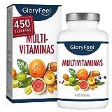 Multivitaminas y Minerales - 450 Comprimidos Veganos (Suministro para 1+ año) - Todas las...