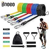 Bnoeo Bandas Elasticas Fitness Musculacion - Apilables hasta Las 100lbs. Tubos de...